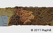 Physical Panoramic Map of Muramviya, darken
