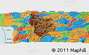 Physical Panoramic Map of Muramviya, political outside