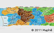 Physical Panoramic Map of Muramviya, political shades outside