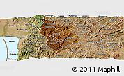 Physical Panoramic Map of Muramviya, satellite outside