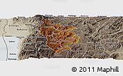 Physical Panoramic Map of Muramviya, semi-desaturated