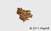 Physical Panoramic Map of Muramviya, single color outside