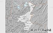 Gray 3D Map of Muyinga