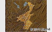 Physical 3D Map of Muyinga, darken