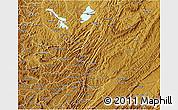 Physical 3D Map of Muyinga