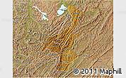 Physical 3D Map of Muyinga, satellite outside