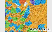 Political 3D Map of Muyinga
