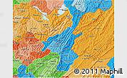 Political Shades 3D Map of Muyinga