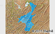 Political Shades 3D Map of Muyinga, satellite outside