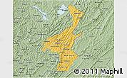Savanna Style 3D Map of Muyinga
