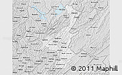 Silver Style 3D Map of Muyinga