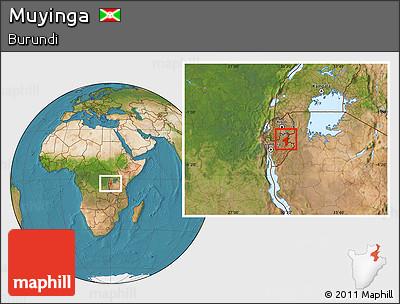 Satellite Location Map of Muyinga