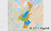 Political Map of Muyinga, lighten