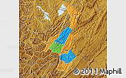 Political Map of Muyinga, physical outside