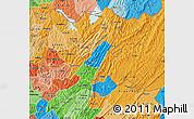 Political Map of Muyinga, political shades outside