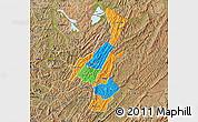Political Map of Muyinga, satellite outside