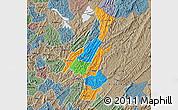 Political Map of Muyinga, semi-desaturated