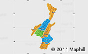 Political Map of Muyinga, single color outside