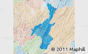Political Shades Map of Muyinga, lighten