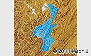 Political Shades Map of Muyinga, physical outside