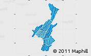 Political Shades Map of Muyinga, single color outside