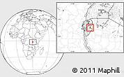 Blank Location Map of Muyinga