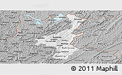 Gray Panoramic Map of Muyinga