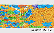 Political Panoramic Map of Muyinga