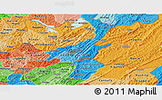 Political Shades Panoramic Map of Muyinga