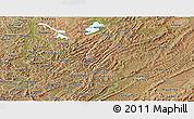 Satellite Panoramic Map of Muyinga