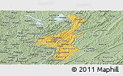 Savanna Style Panoramic Map of Muyinga