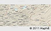 Shaded Relief Panoramic Map of Muyinga