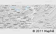 Silver Style Panoramic Map of Muyinga