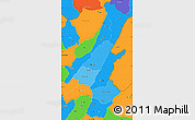 Political Shades Simple Map of Muyinga, political outside