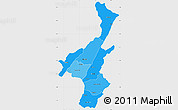 Political Shades Simple Map of Muyinga, single color outside