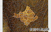 Physical Map of Ngozi, darken