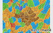 Physical Map of Ngozi, political outside