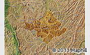 Physical Map of Ngozi, satellite outside