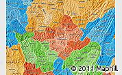 Political Shades Map of Ngozi