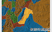 Political Map of Giharo, darken