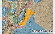 Political Map of Giharo, semi-desaturated