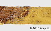 Physical Panoramic Map of Rutana