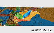 Political Panoramic Map of Rutana, darken