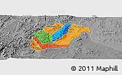 Political Panoramic Map of Rutana, desaturated