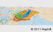 Political Panoramic Map of Rutana, lighten