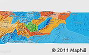 Political Panoramic Map of Rutana, political shades outside