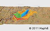 Political Panoramic Map of Rutana, satellite outside