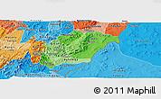 Political Shades Panoramic Map of Rutana