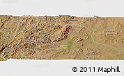 Satellite Panoramic Map of Rutana