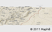 Shaded Relief Panoramic Map of Rutana
